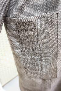 着物からワンピース(ポケットのピンタック)