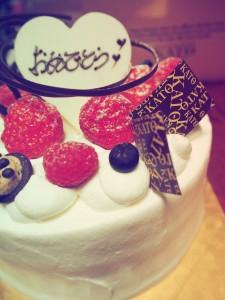 2周年のケーキ