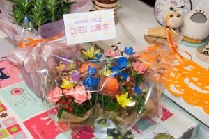 2周年記念のお花