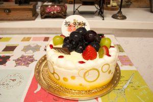 3周年のケーキ